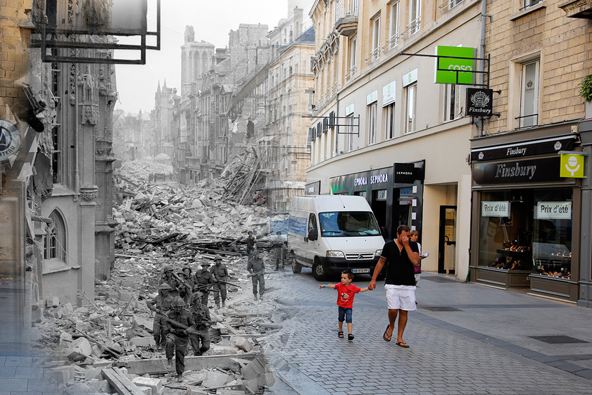 Normandy France DDAY Then and Now