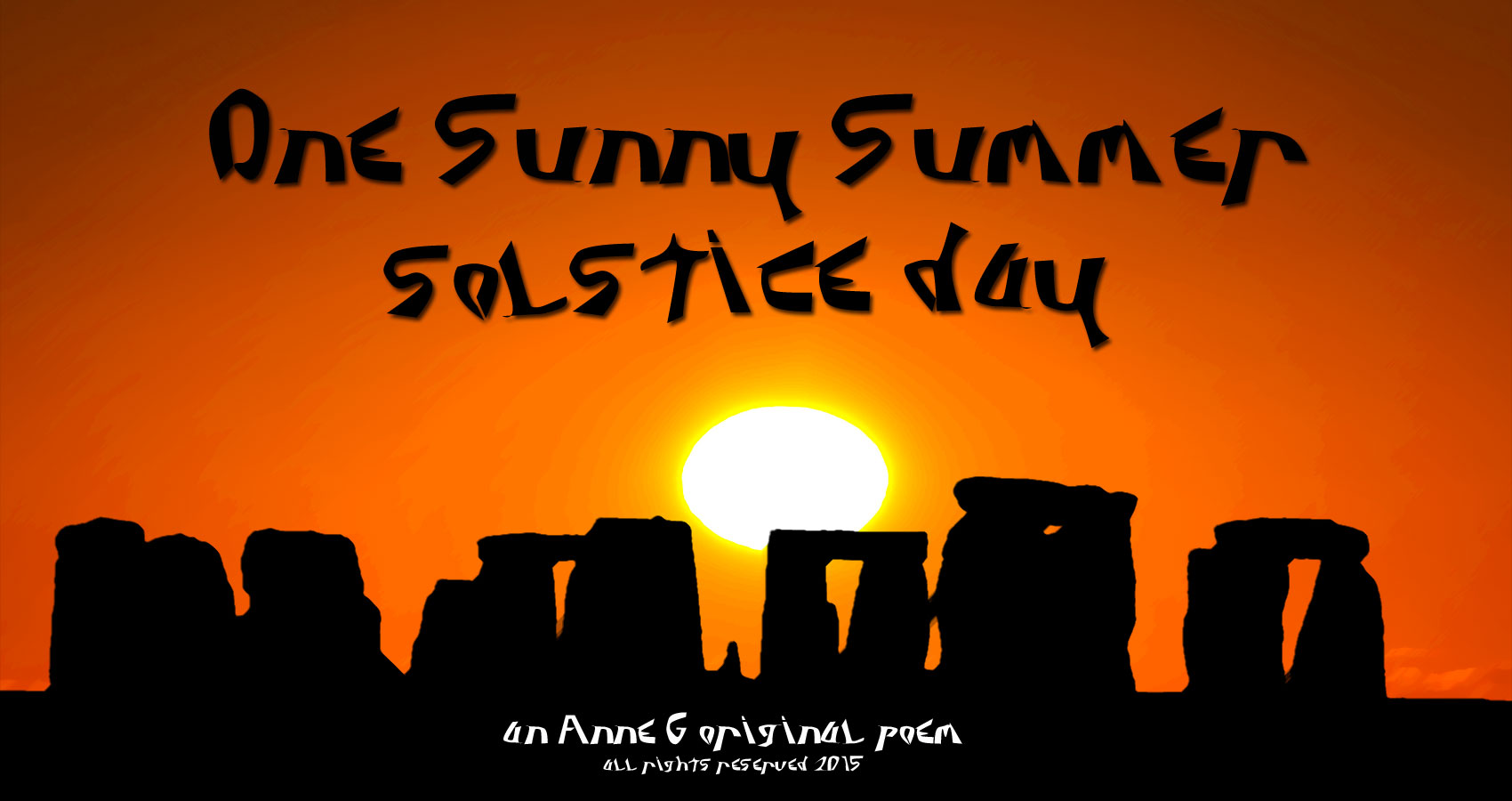 One Sunny Summer Solstice Day a spillwords original poem by Anne G