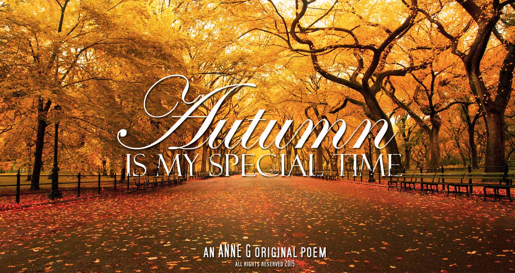 Autumn Is My Special Time by Anne G at spillwords.com