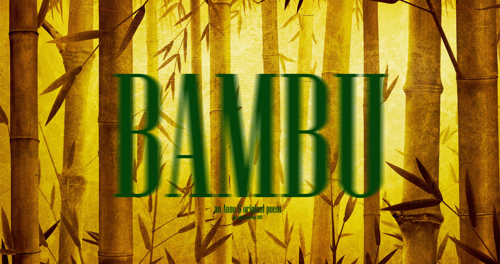spillwords.com Bambu An Anne G Original Poem