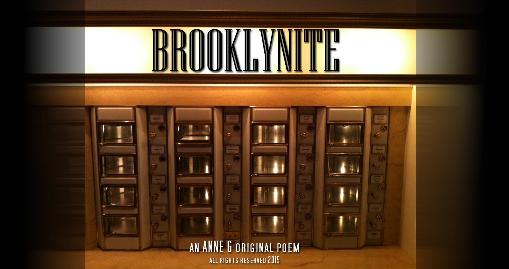 spillwords.com Brooklynite by Anne G