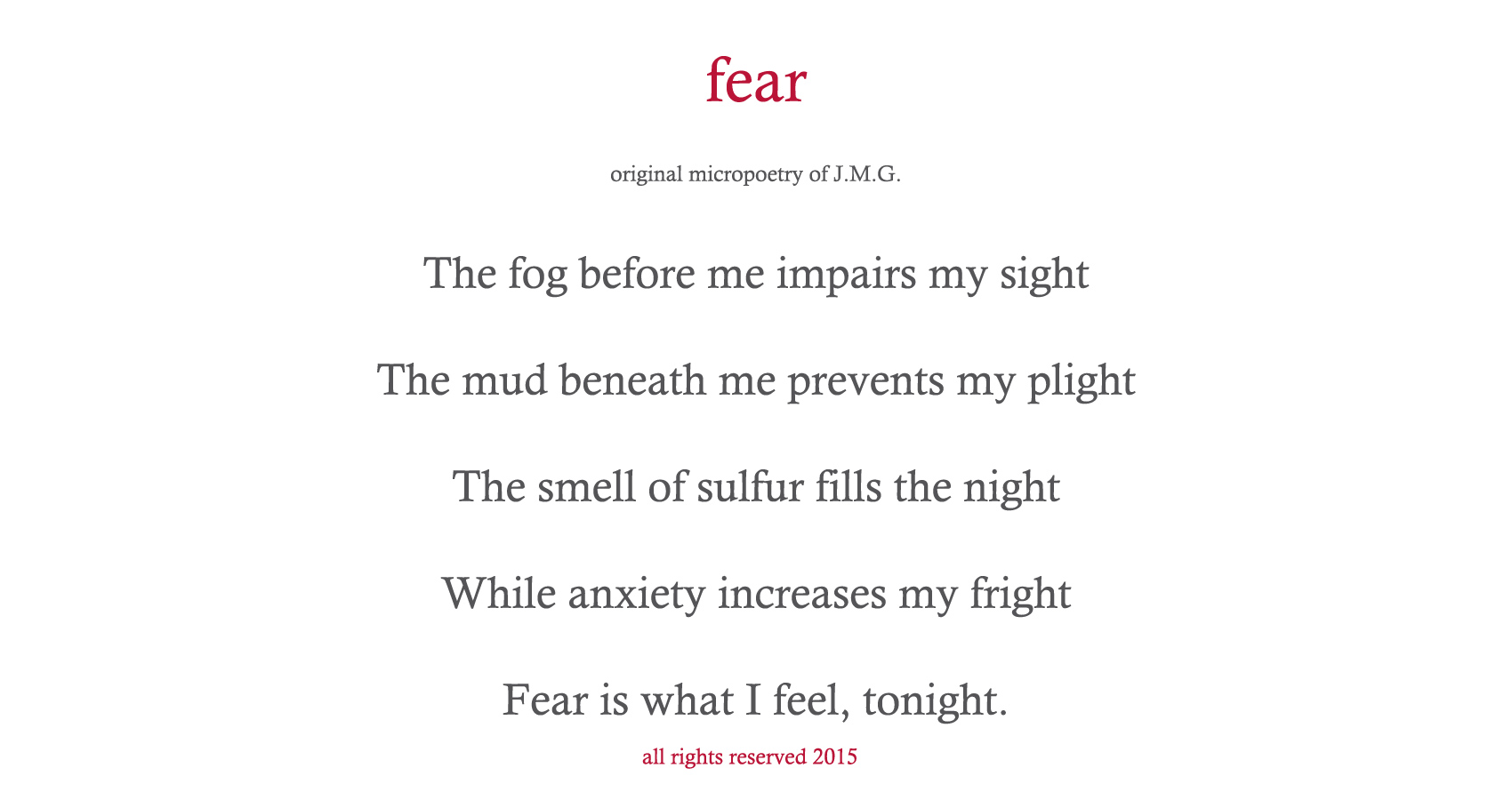 spillwords.com Fear by J.M.G.
