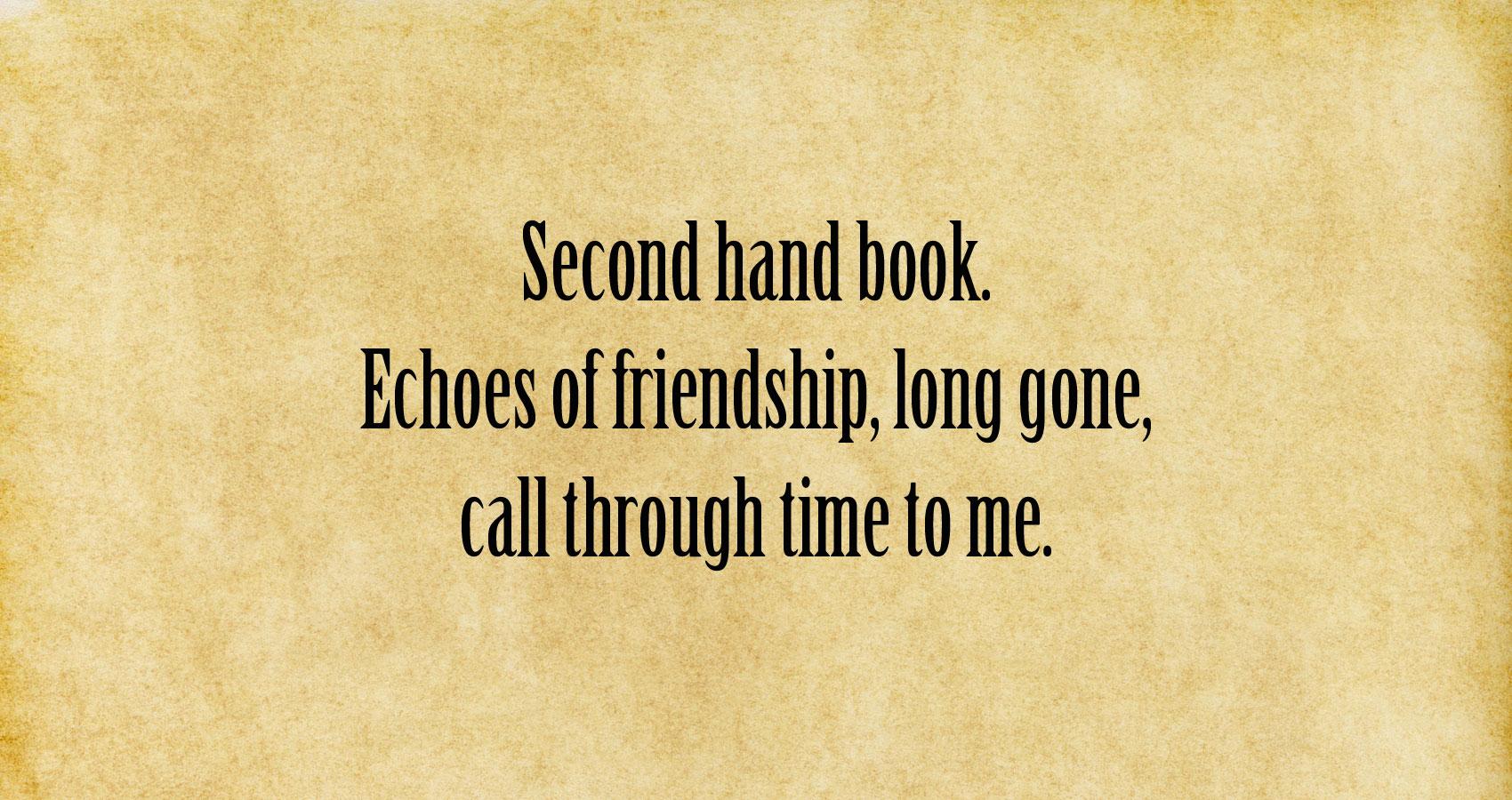 Second Hand Book (London Heiku Project) at Spillwords.com