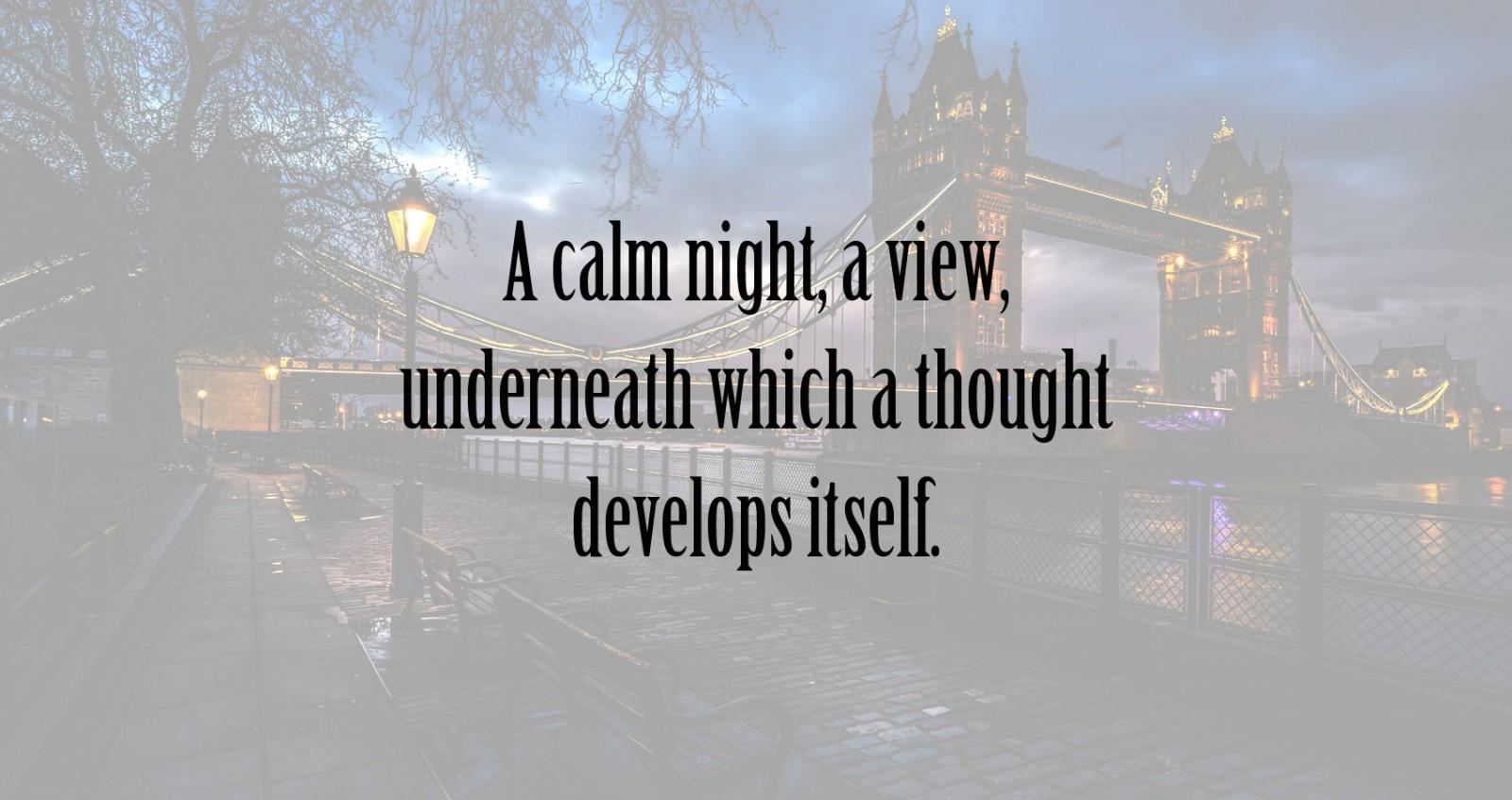 A Calm Night