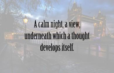 A Calm Night at Spillwords.com