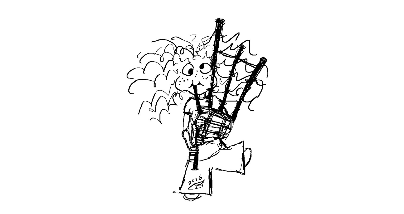 Bagpipe Goofball by Robyn MacKinnon at Spillwords.com