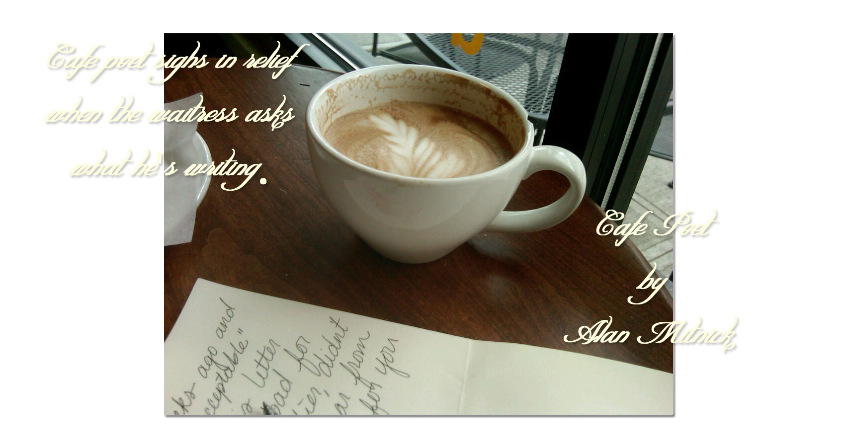 Cafe Poet written by Alan Mitnick at Spillwords.com