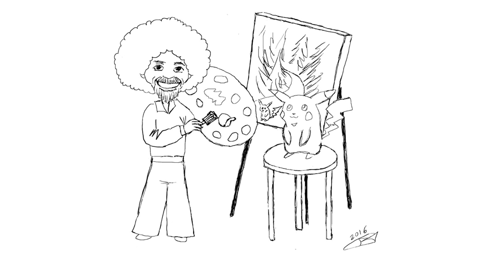Don't Question Bob Ross by Robyn MacKinnon at Spillwords.com
