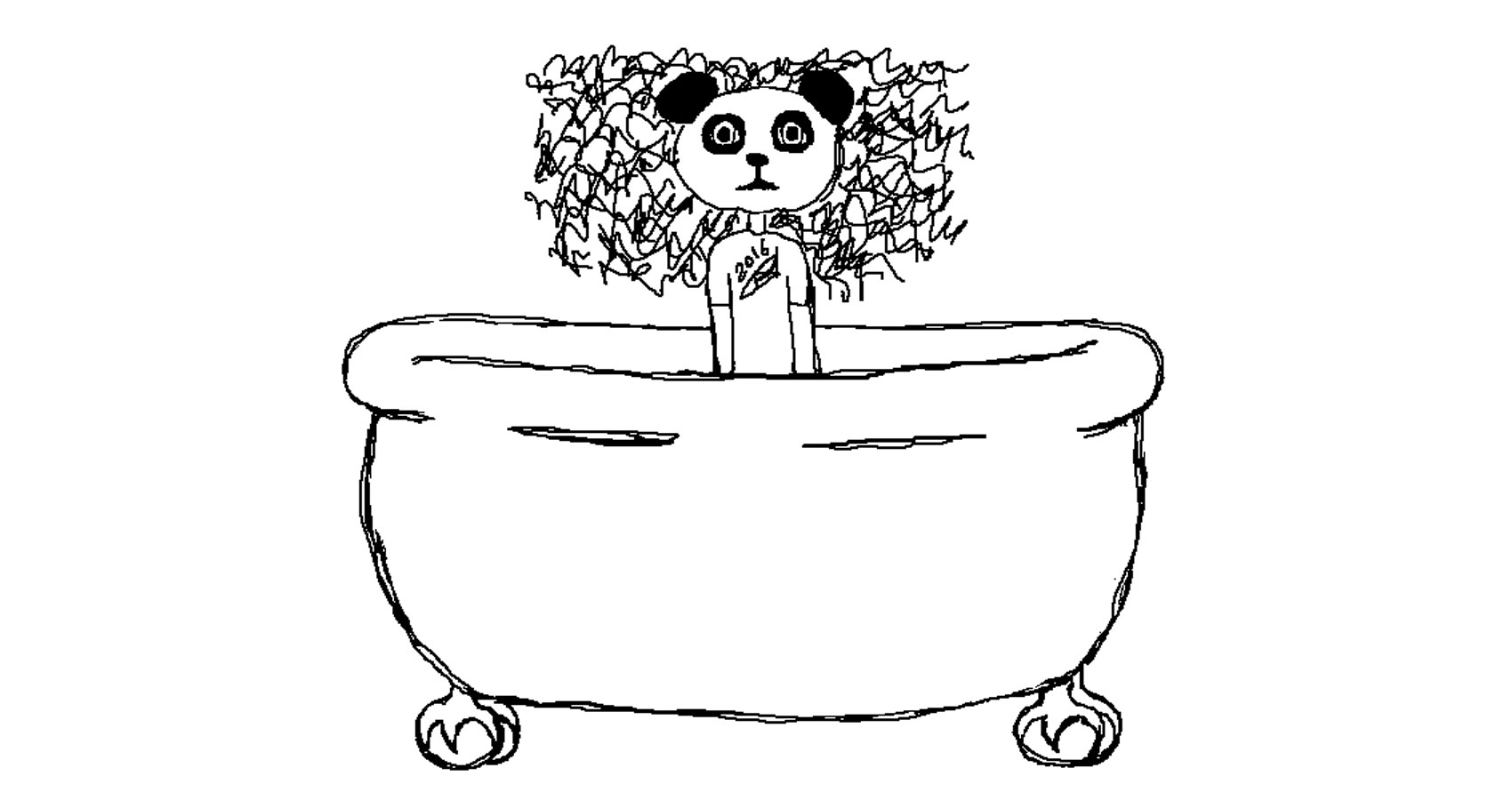 Giant Bathtub Panda Mask by Robyn MacKinnon at Spillwords.com