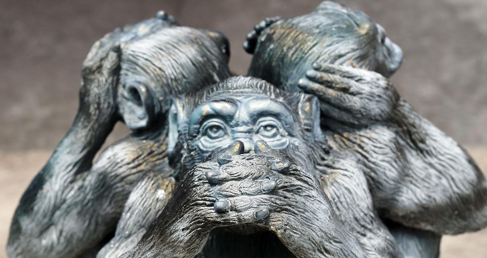 The Speak No Evil Monkey a poem at Spillwords.com