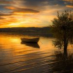Sunset on The Lake written by TM Arko at Spillwords.com