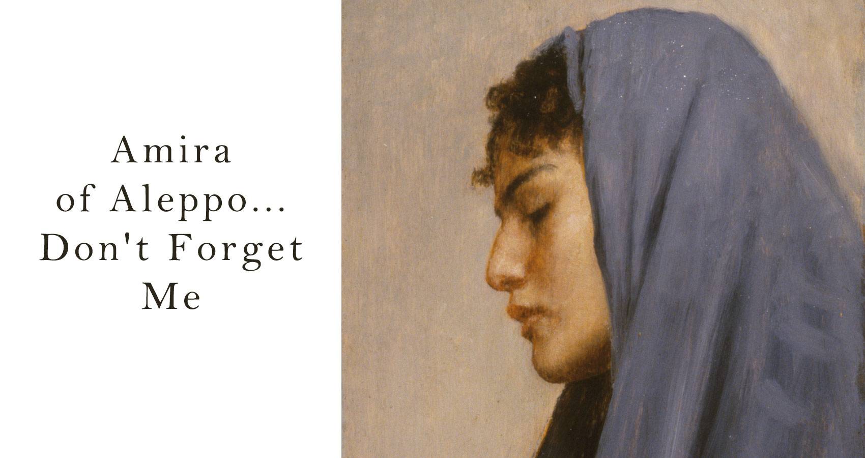 Amira of Aleppo... Don't Forget Me by LadyLily at Spillwords.com