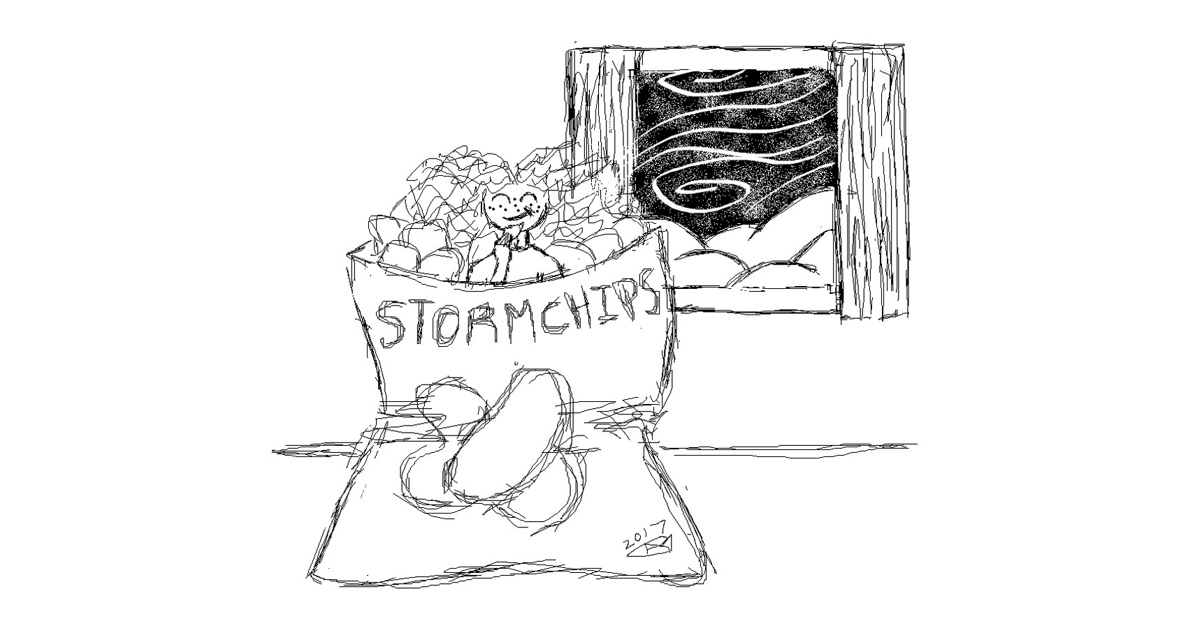Stormchips written by Robyn MacKinnon at Spillwords.com