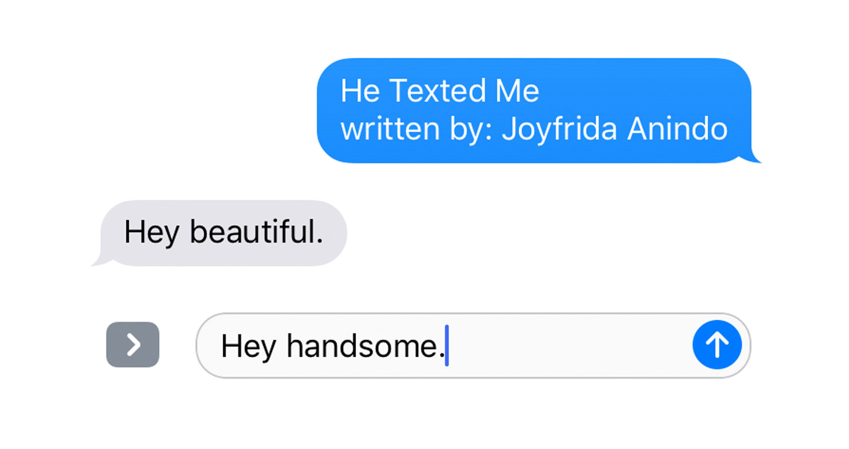 He Texted Me written by Joyfrida Anindo at Spillwords.com