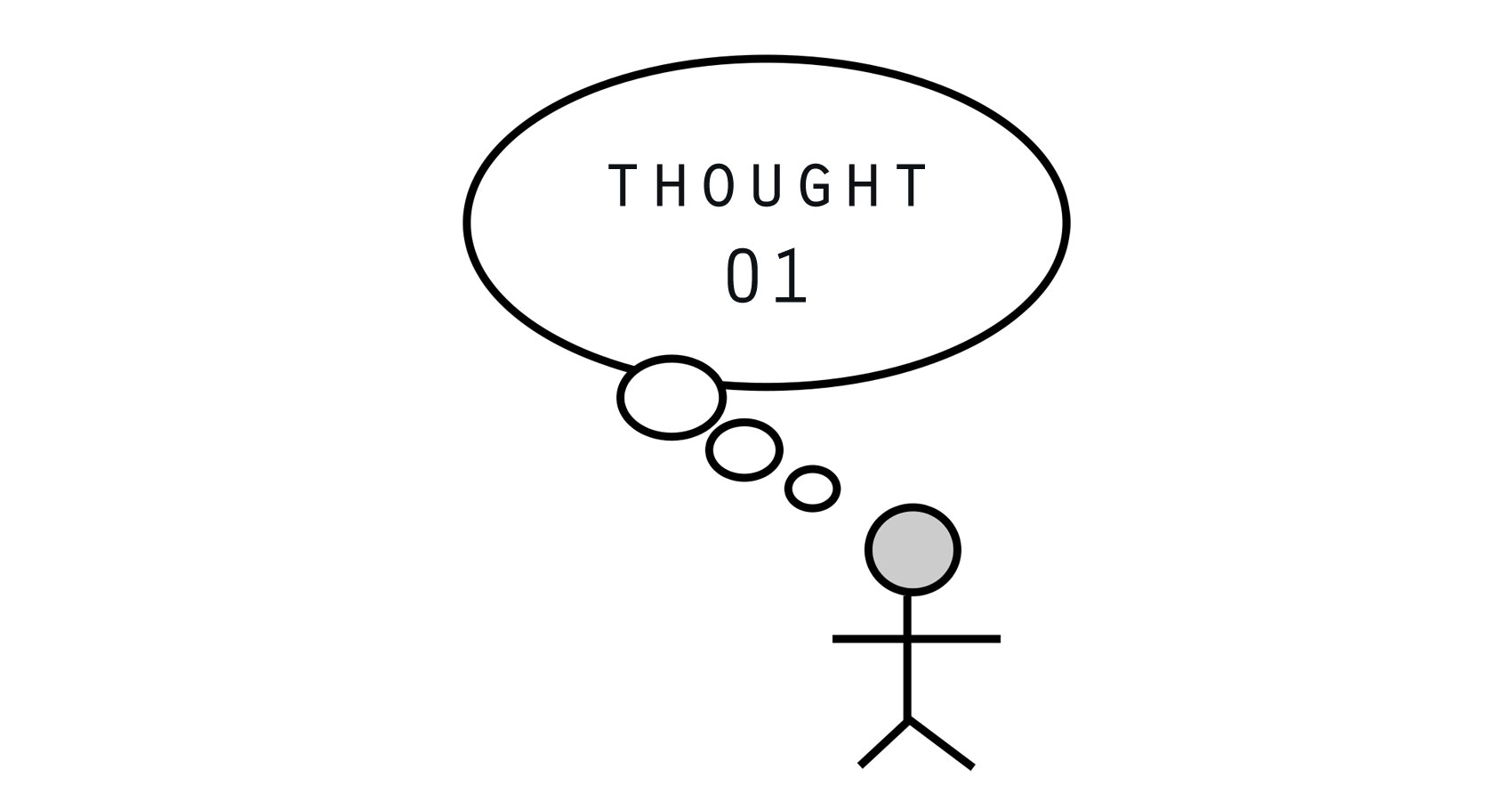 Thought 01 written by Stan at Spillwords.com