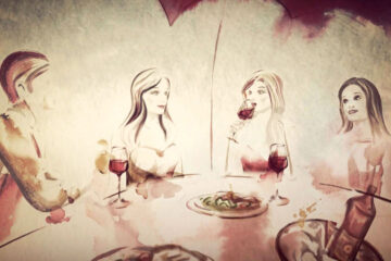 Wine With Friends written by Polly Oliver at Spillwords.com