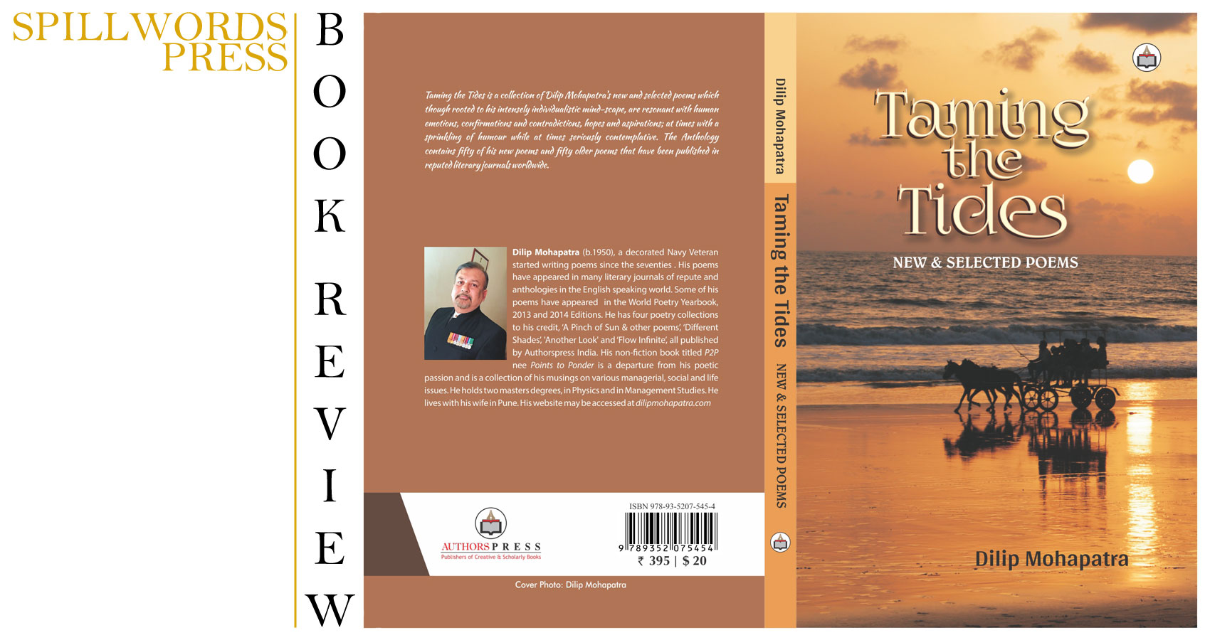 Book Review - 'Taming the Tides', a book of poetry by Dilip Mohapatra at Spillwords.com