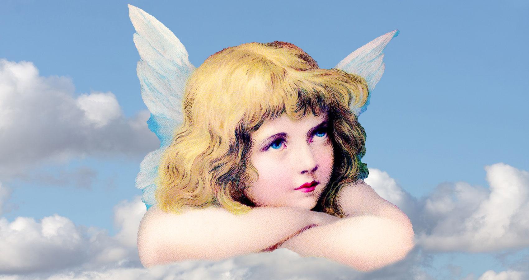 Картинка ангелы на облаках