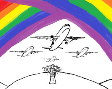 Airplanes And Double Rainbows by Robyn MacKinnon at Spillwords.com