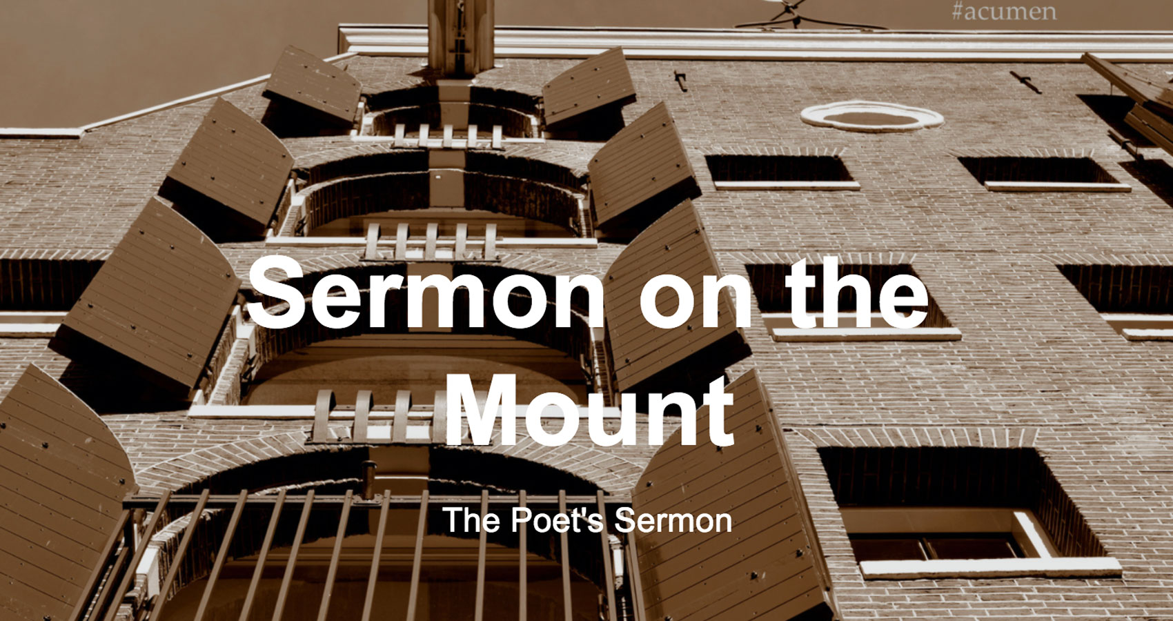 Sermon On The Mount written by lagoondry at Spillwords.com