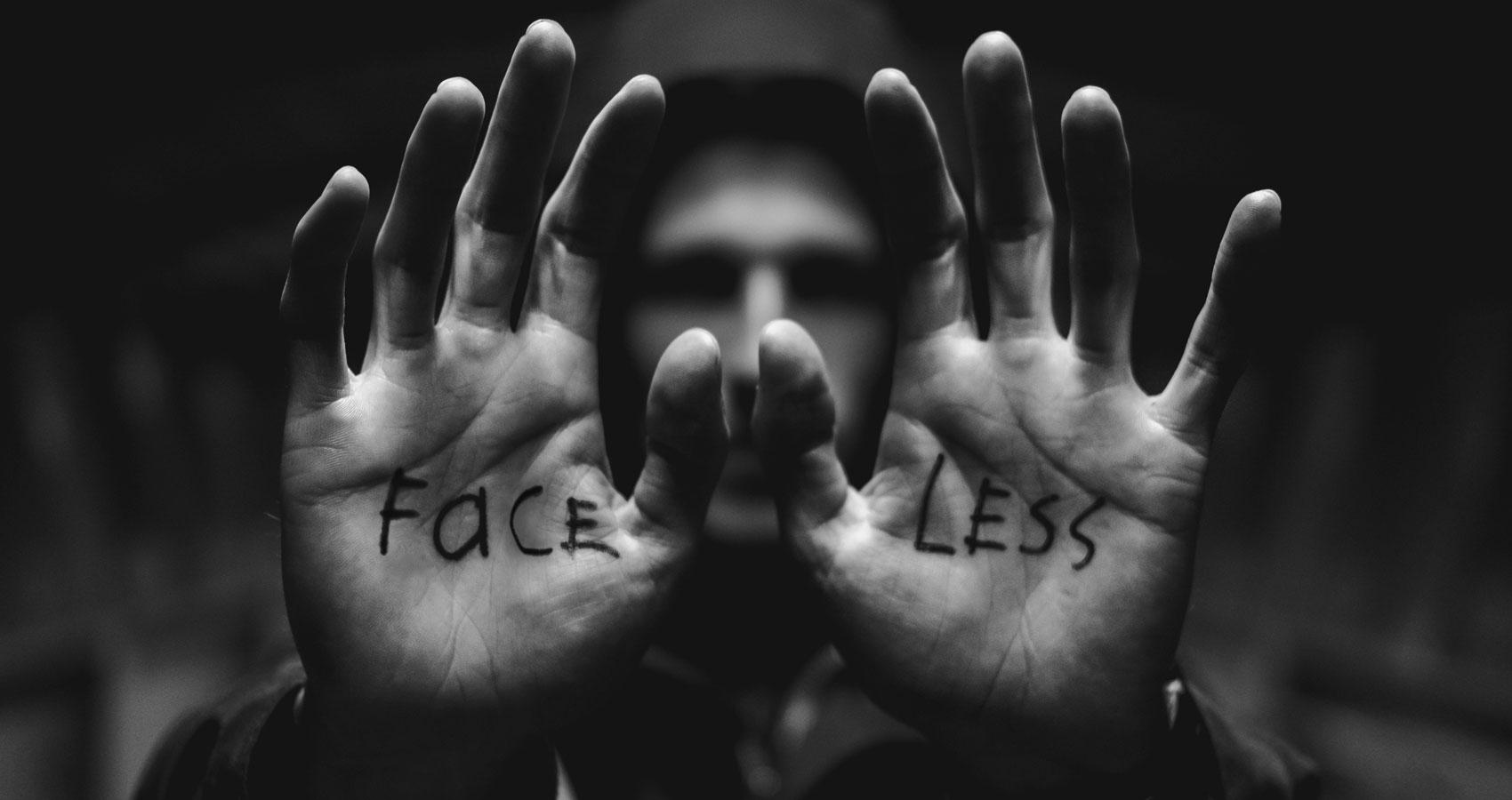 Faceless written by Criss Tripp at Spillwords.com