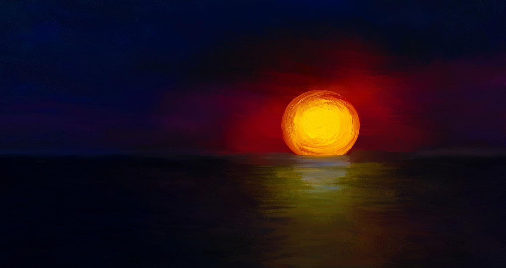 Sunset written by Doug Donnanat Spillwords.com