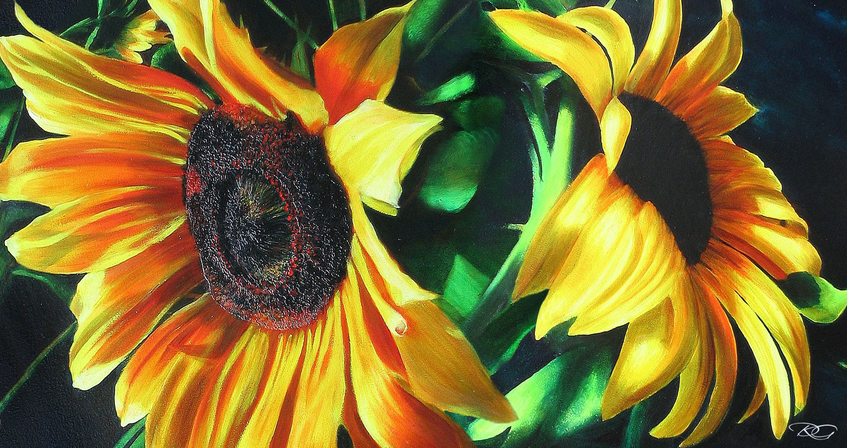 Sunflowers, a poem written by Eliza Segiet at Spillwords.com