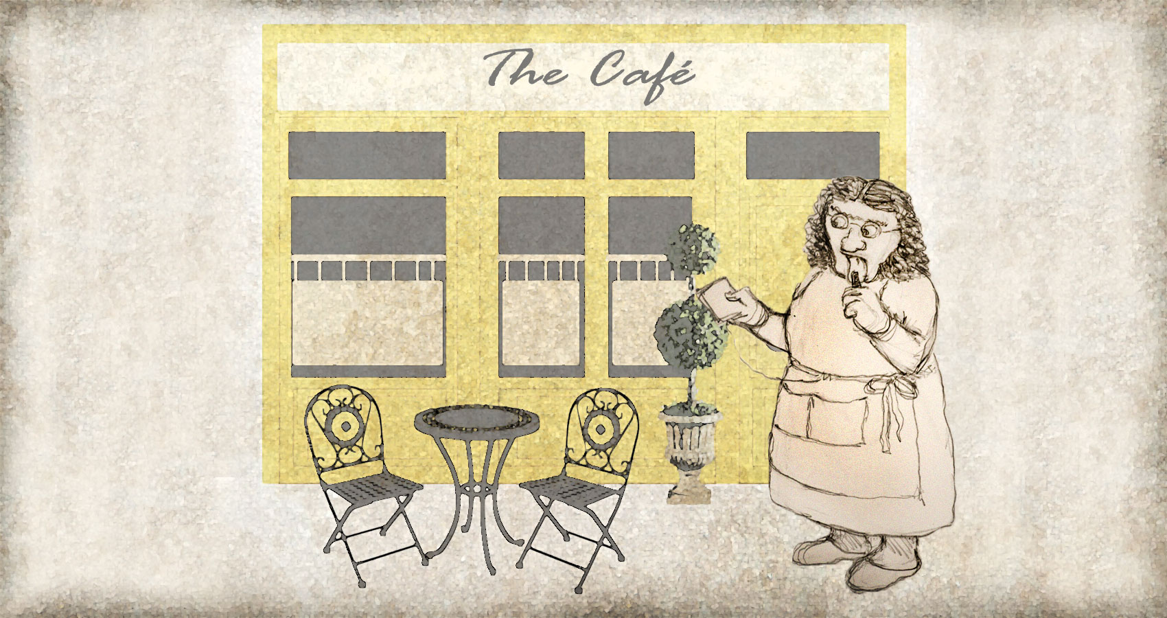 The Visit To The Café written by Rodney Ison at Spillwords.com