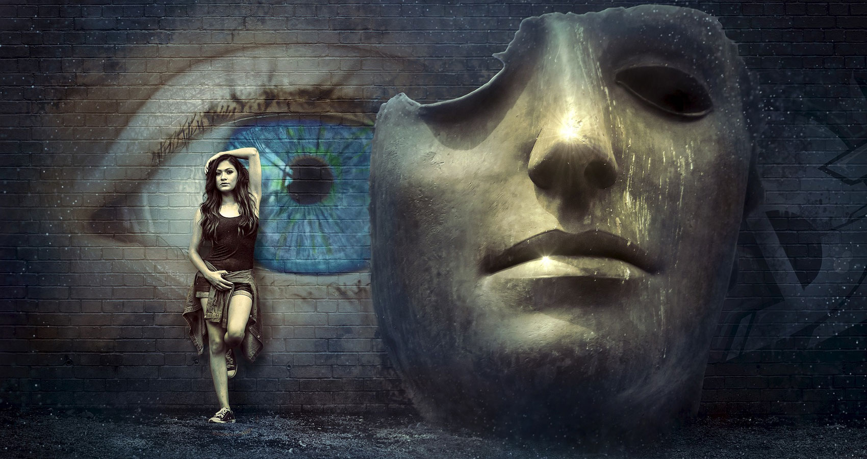 Weeping Mask, a poem written by Lynn White at Spillwords.com