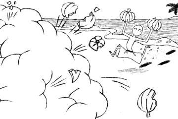 Pumpkin Fight, a haiku by Robyn MacKinnon at Spillwords.com
