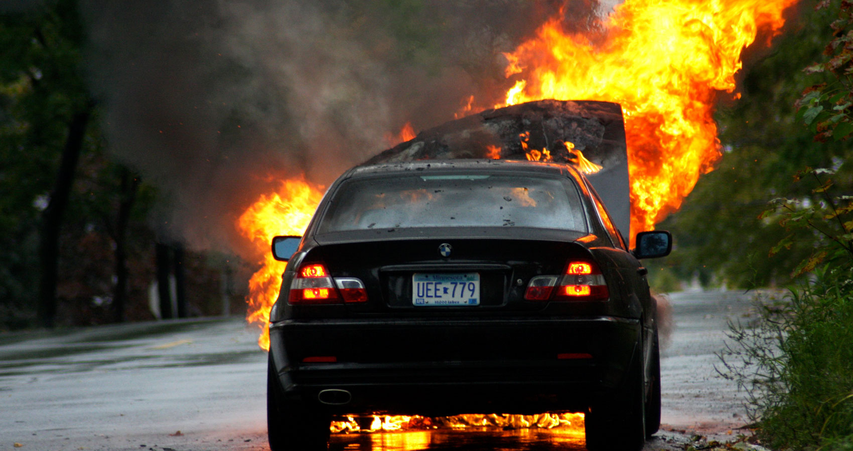 Car Fire, a poem written by James Gabriel at Spillwords.com