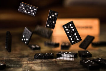 Domino Effect, micropoetry written by Christine E. Ray at Spillwords.com