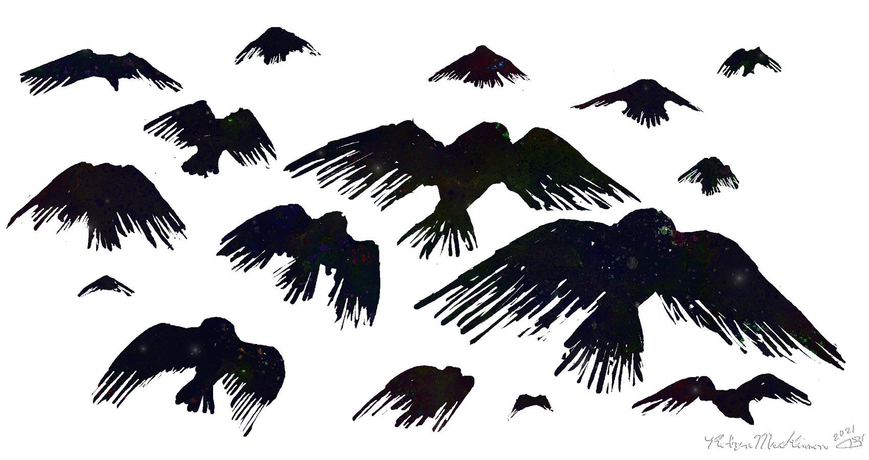 Crow Army, a haiku by Robyn MacKinnon at Spillwords.com