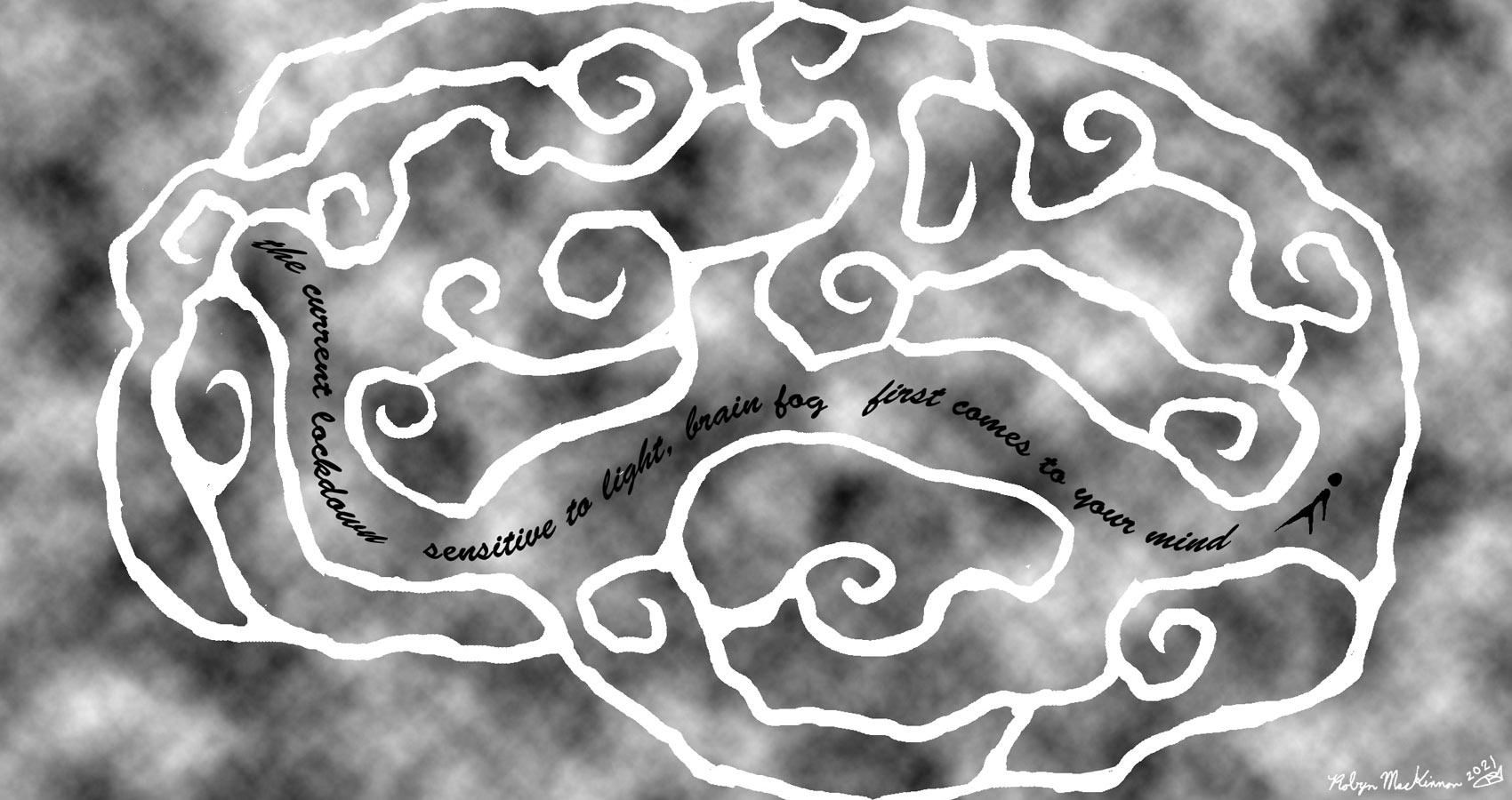 Lockdown Brain Fog, a haiku by Robyn MacKinnon at Spillwords.com
